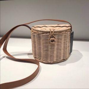 Forever 21 Wicker Bucket Basket Bag